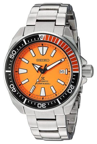 Seiko diver's with striking orange dial