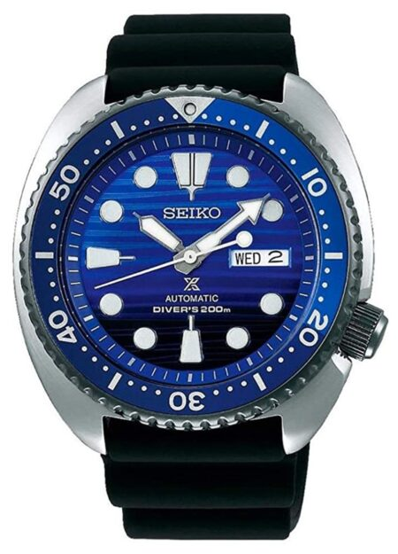 Turtle-shaped case dive watch from Seiko