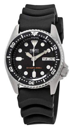 Seiko timepiece with luminosity and black apparel