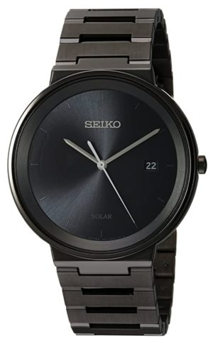 An ultra-thin Seiko men's watch with sunray face