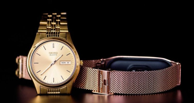 Seiko golden quartz watch