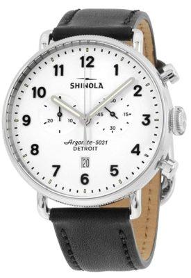 Elegant Shinola timepiece with white dial