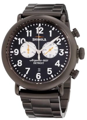 A casual Shinola timepiece with a chronograph function