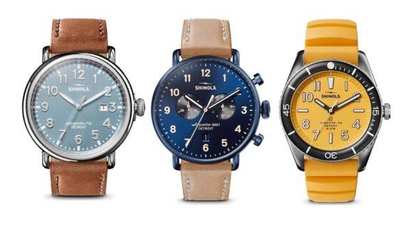 Different Shinola watch designs