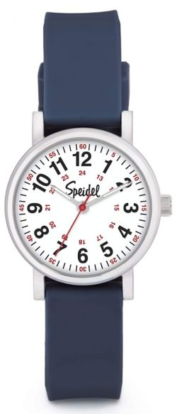 medical timepiece with striking red second hand
