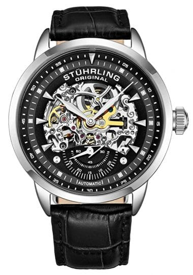 Stuhrling timepiece with colorful and rich of detail dial