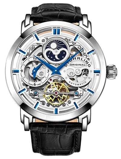ultra-fashionable colorful Stuhrling skeleton watch