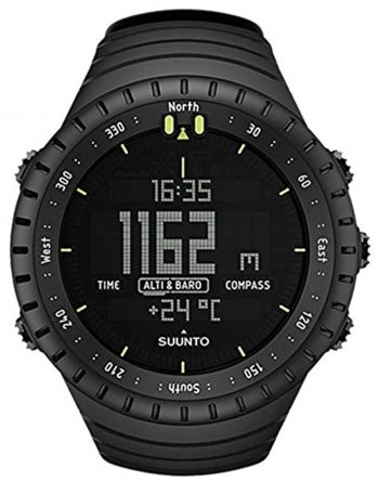 An all-black thermometer watch from Suunto