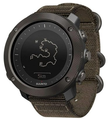 Army green Suunto watch for hunting