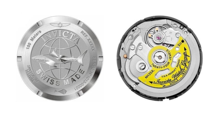 Invicta watch movements