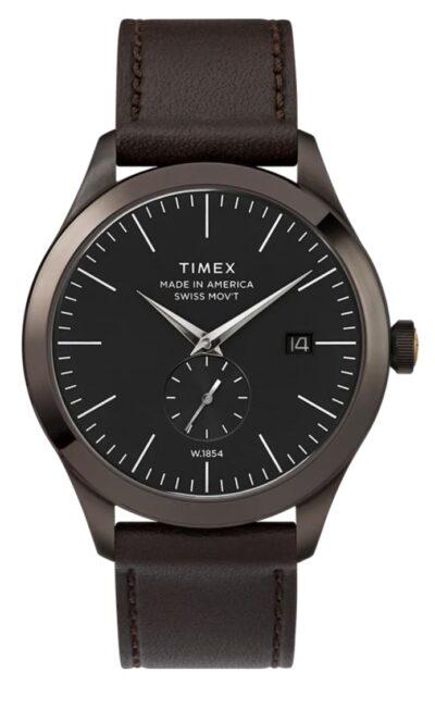 black dial analog timepiece