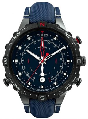 An analog watch with rich dial from Timex