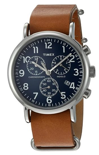 Timex Weekender watch with chronograph