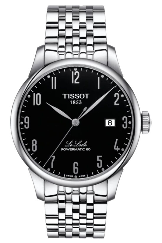 Stainless steel Tissot watch with 80-hour power reserve
