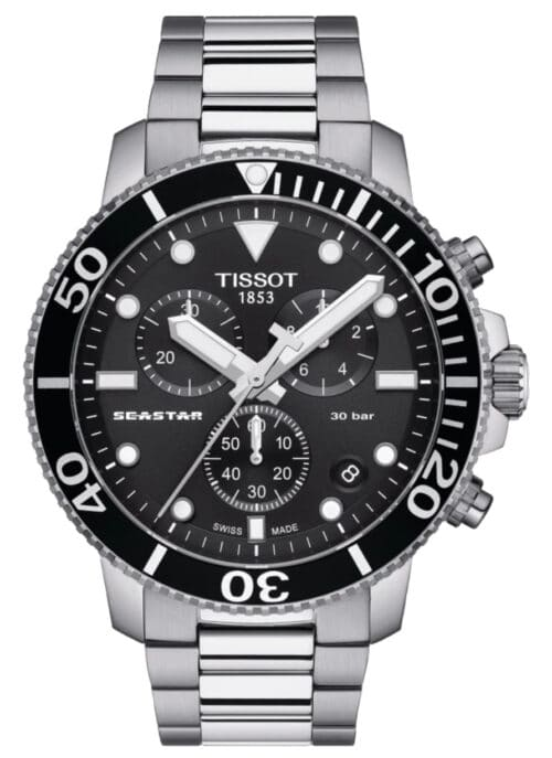 Silver Tissot professional diver's watch
