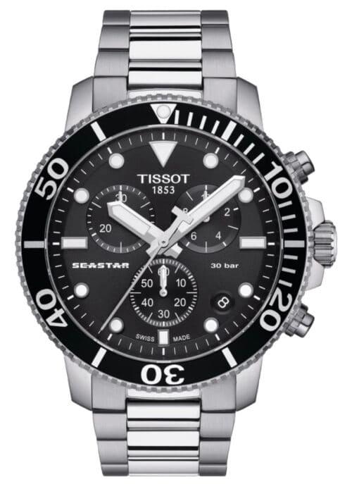 Silver Tissot diver's watch