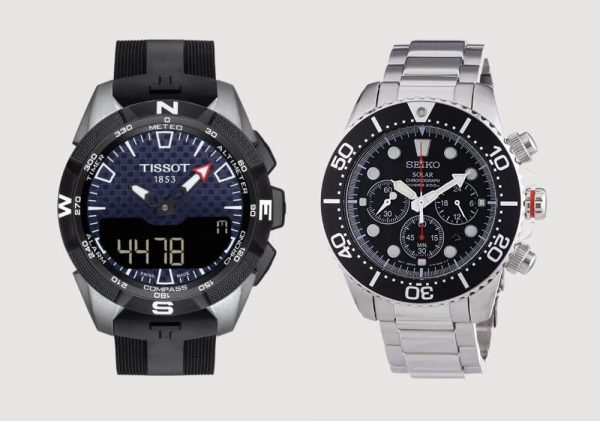 Solar watches compared