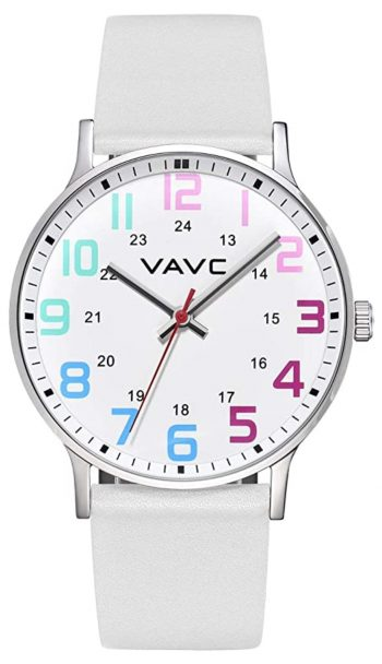 Colorful analog nurse watch