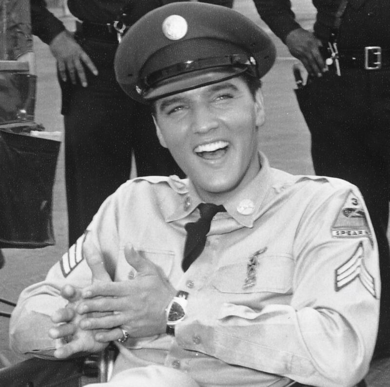 Elvis Presley wearing Hamilton Ventura watch