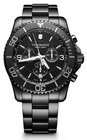 Victorinox Swiss-made watch with an all-black design