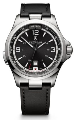 Swiss-made sapphire watch with black dial