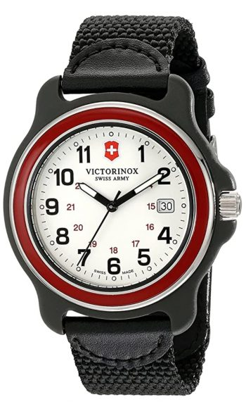 Simple white-dialled Victorinox watch