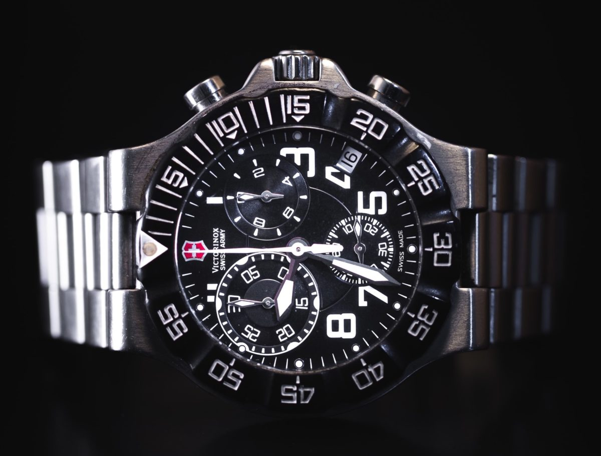 Stainless steel Victorinox Swiss Army watch