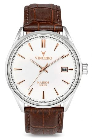 Elegant Vincero watchpiece with white dial