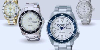 white dial dive watch
