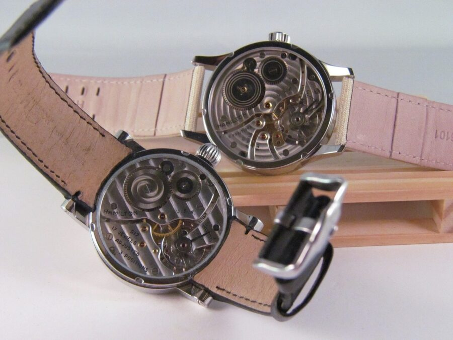 Hamilton automatic calibers visible from see-through case backs